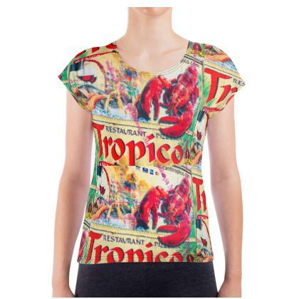 Damen T-Shirt MONTENEGRO GREEN BLUE  size S