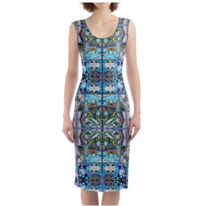 226,00 Bodycon-Kleid size S BLUE VELVET JAGUAR #ninibing34