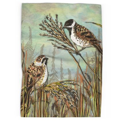 Reed Buntings Tea Towel