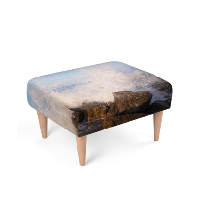 Ocean Photography Design Footstool