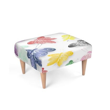Butterfly Design Footstool