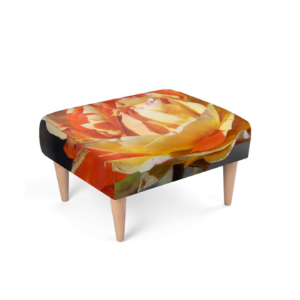Floral Photography Footstool