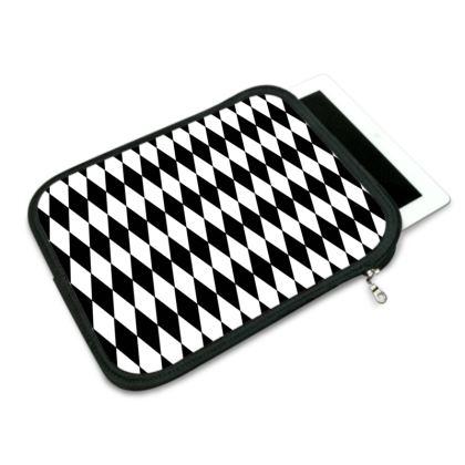 iPad Slip Case Black And White Diamonds
