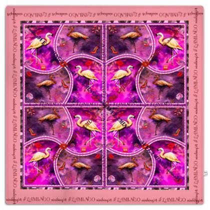 Picknickdecke FLAMINGO #ninibing34 DESIGN 150 x 150 cm