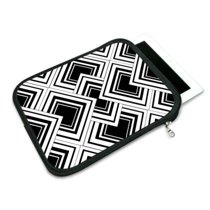 iPad Case Art Deco Black And White