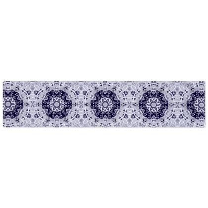 White Blue and Grey - scarf #2 - 135cm x 31cm