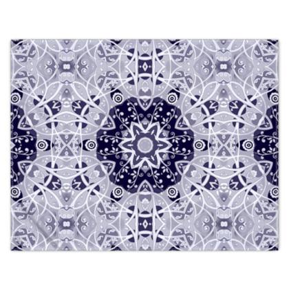 White Blue and Grey - scarf #3 - 133cm x 105cm