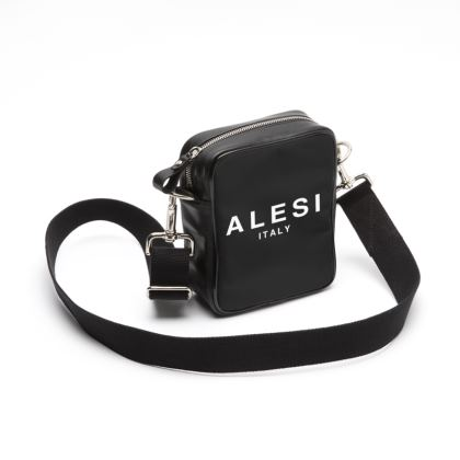 ALESI ITALY VINTAGE SMALL LEATHER SHOULDER BAG