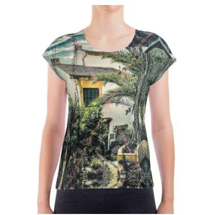 Damen T-Shirt Jersey 180 gr/m2 WHITE LEOPARD print size XL  #ninibing34