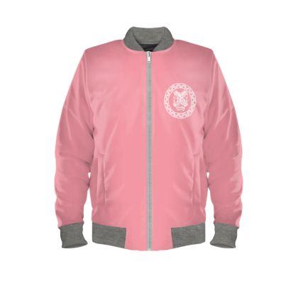 Alesi Custom Bomber Jacket- Pink/White/Grey