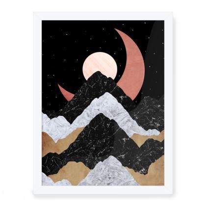 Framed Art Prints -  The crescent moon