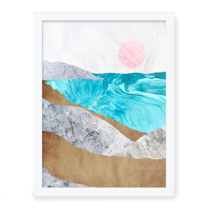 Framed Art Prints - A sandy beach