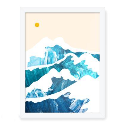 Framed Art Prints - A summer's ocean