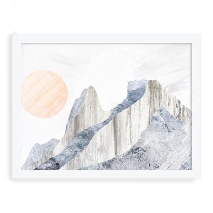 Framed Art Prints - Stone rock peaks