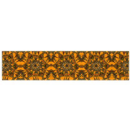 Funky Orange Star floral Scarf 135cm x 31cm