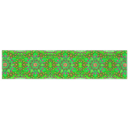 vibrant green, pink and yellow - scarf #2 - 135cm x 31cm