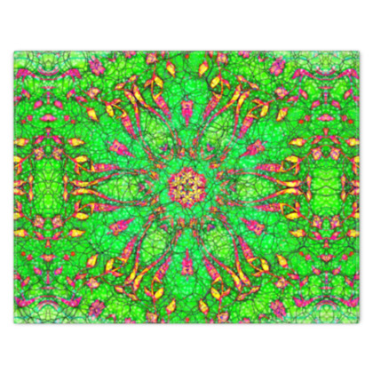 vibrant green, pink and yellow - scarf #3 - 133cm x 105cm