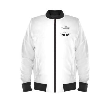 Alesi Custom Bomber Jacket- White/Black/Black