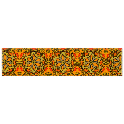 Funky Red and Orange Star floral Scarf 135cm x 31cm