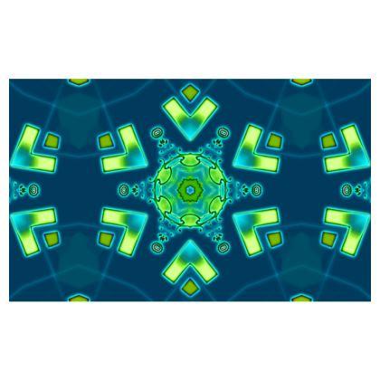 Blue and Aqua Funky Star #1 - Zip-Top-Handbag