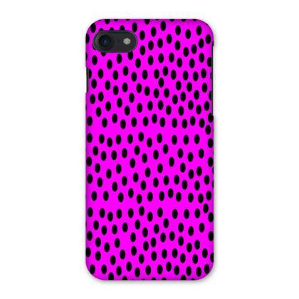 Black Polka Dot Design Cerise Pink iPhone 7 Case
