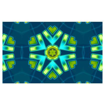 Blue and Aqua Funky Star #2 - Zip-Top-Handbag