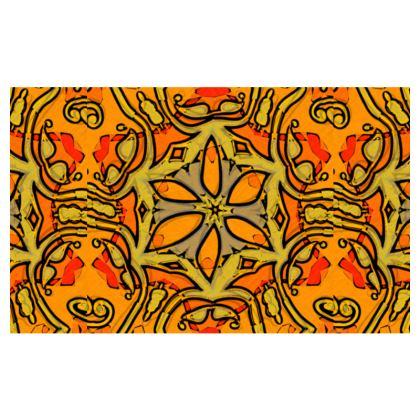 funky red and orange star #1 - Zip-Top-Handbag