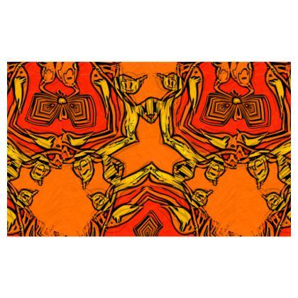 Funky red and orange Triquetra #1 - Zip-Top-Handbag