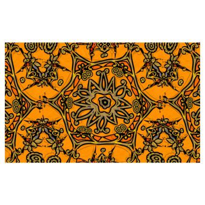 funky orange and yellow star #1 - Zip-Top-Handbag