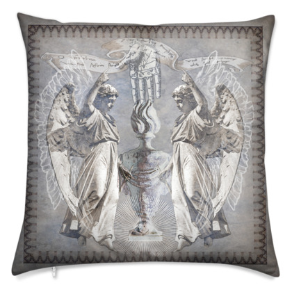 Standing Angels - Velvet Cushion