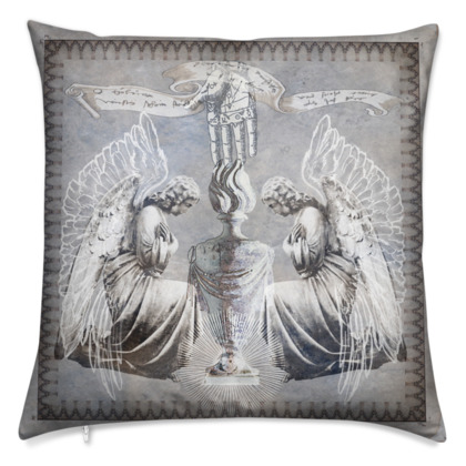 Kneeling Angels - Velvet Cushion