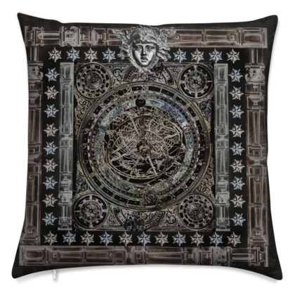 Dark Astrolabe - Velvet Cushion