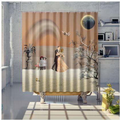 Victorian Era inspired Shower Curtain