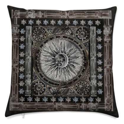 Dark Sun - Velvet Cushion