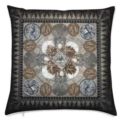 Medallion and Cross - Velvet Cushion