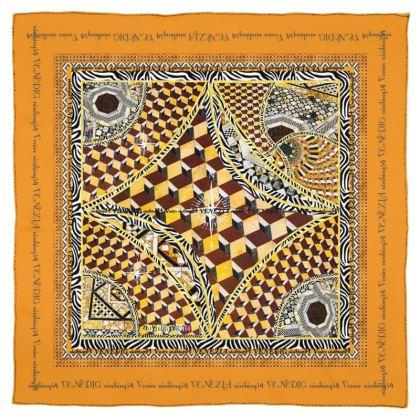 185,- Schal/Halstuch VENICE Musselinen 115 x 115 cm #ninibing34