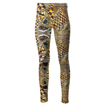 192,- Taillenhohe Leggings in schimmerndem Velours VENEZIA size M
