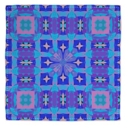Geometric Pattern in Purple and Blue
