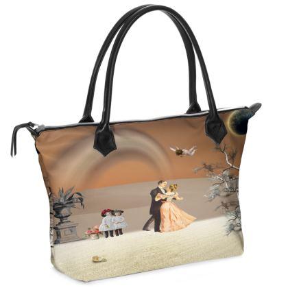 Victorian Era inspired Zip Top Handbag