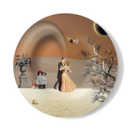 Victorian Era inspired Decorative Plate