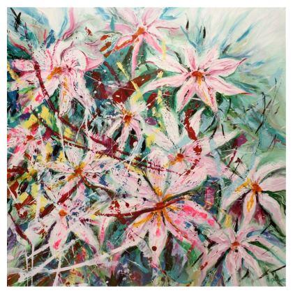 Fabulous Pink Clematis Handbag by Alison Gargett Artist and Designer