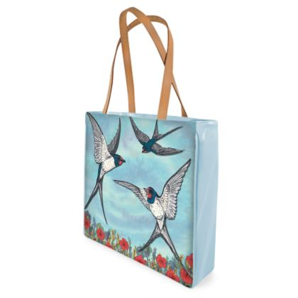 Summer Swallows Shopper Bag