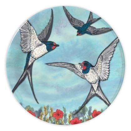 Summer Swallows China Plate