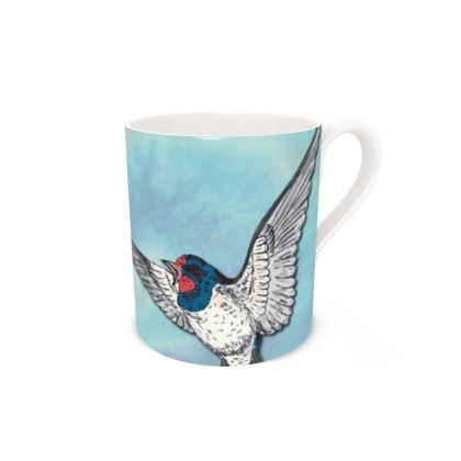 Summer Swallows Bone China Mug