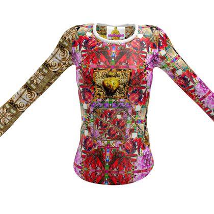 Slim Fit T-Shirt Damen #ninibing34 RED-PINK MONTENEGRO size M