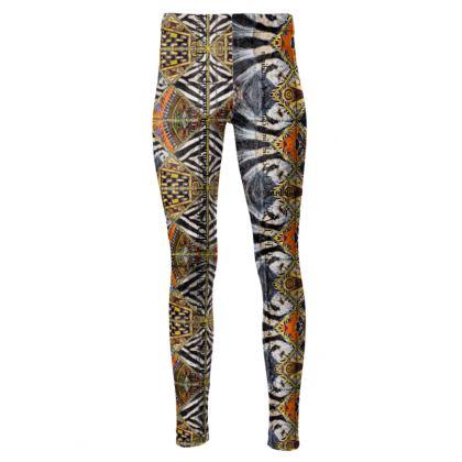 192,- Taillenhohe Leggings #ninibing34 ZEBRA! Schillerndes Velours size S