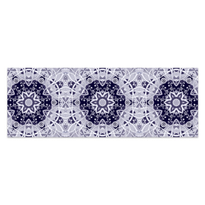 """blue and white  floral decorative - Sarong #2 - Classic Half - 66'x24"""" (167cmx60cm)"""