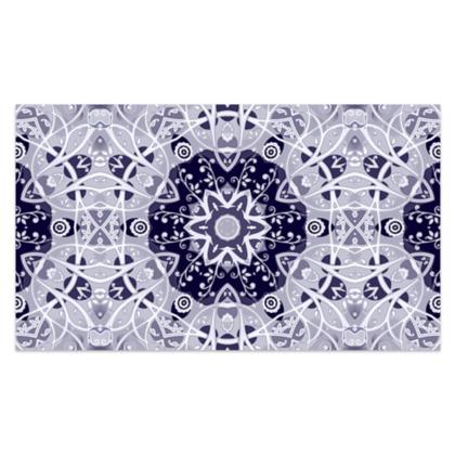 "blue and white floral decorative - Sarong #3 - Plus Long - 76'x44"" (193cmx110cm)"