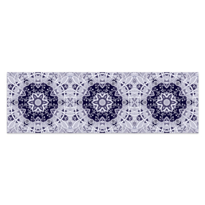 "Blue and white floral decorative - Sarong #4 - Plus Half - 76'x24"" (193cmx60cm)"