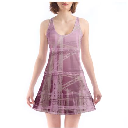 Chemise with Gasholders pattern in Mauves